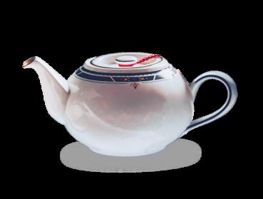 Porzellan Teekanne